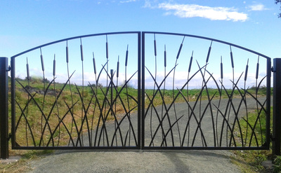 metal and wrought iron gates and fencing by Adam Styles Creative Metal, Nelson, NZ