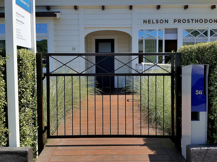 Single gate, entrance gate, pathway gate,Adam Styles Creative Metal, Nelson, NZ
