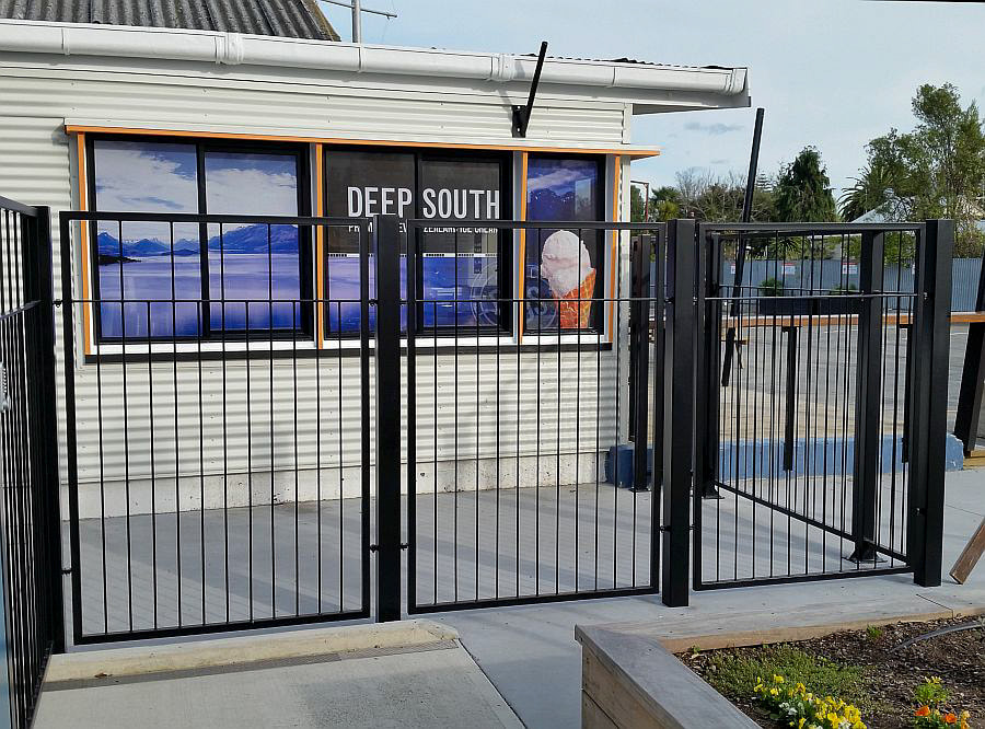 Commercial gates, Adam Styles Creative Metal, Nelson, NZ